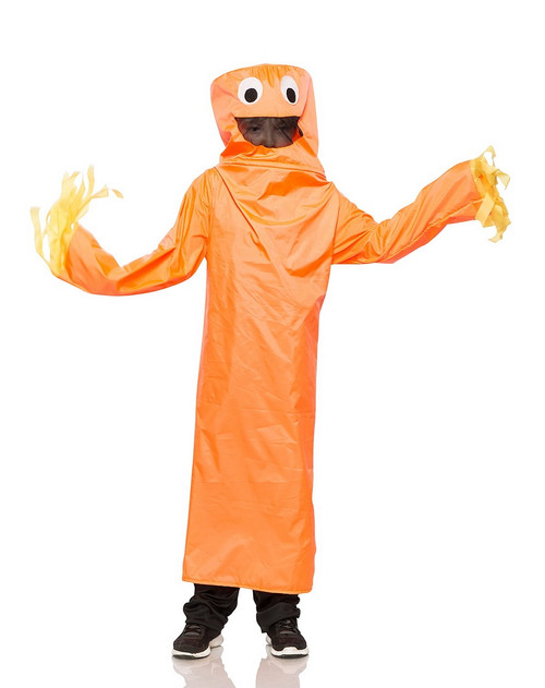 Costume de Bonhomme Tube Orange Ondulant Enfant