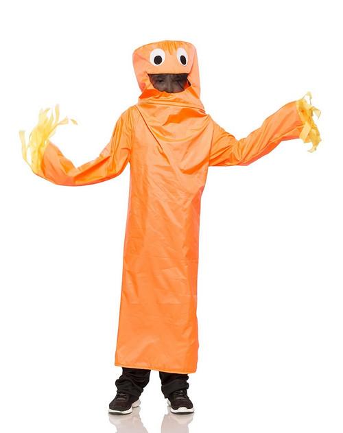 Costume de Bonhomme Tube Orange Ondulant Enfant
