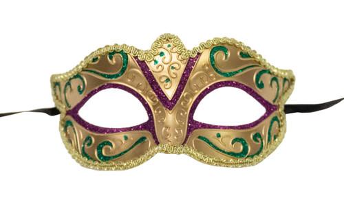 Masque Mardi Gras Doré