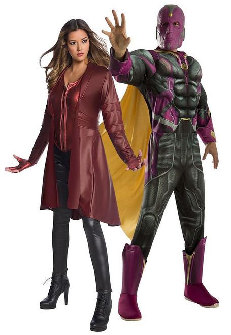 Avengers Vision et Scarlett Sorcière Couple Costume