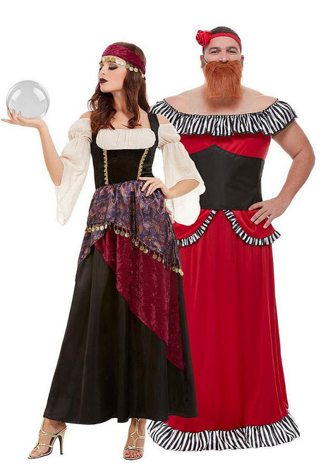 Le plus grand Showman Bearded Lady et Gypsy Couple Costume