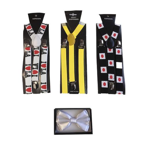Le Jet Setter Bow Tie et Kit Suspenders