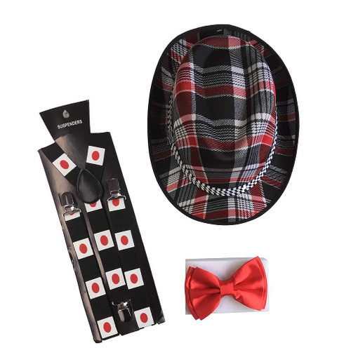 Rouge amant Bow Tie et Kit Hat