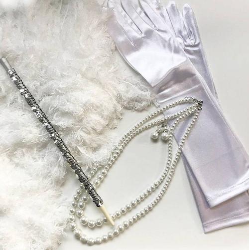 1920 Argent blanc Femme Kit
