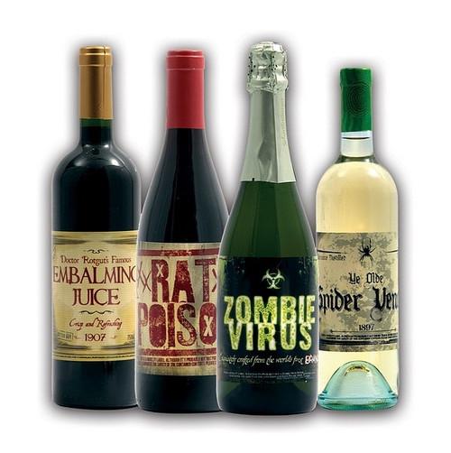 Farce Bouffonne de l'Halloween pour du Vin