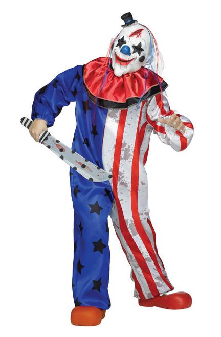 Costume du Clown Tueur pour Enfant Bleu