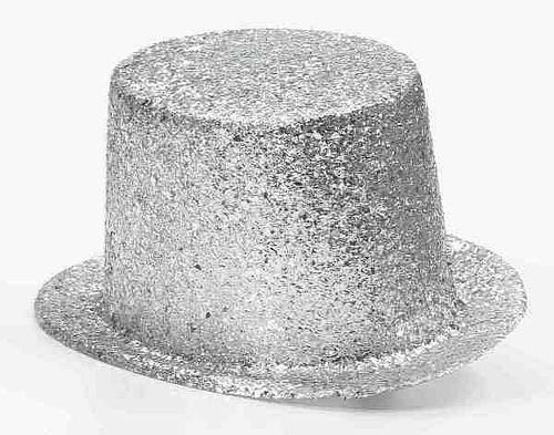Chapeau Argenté Scintillant