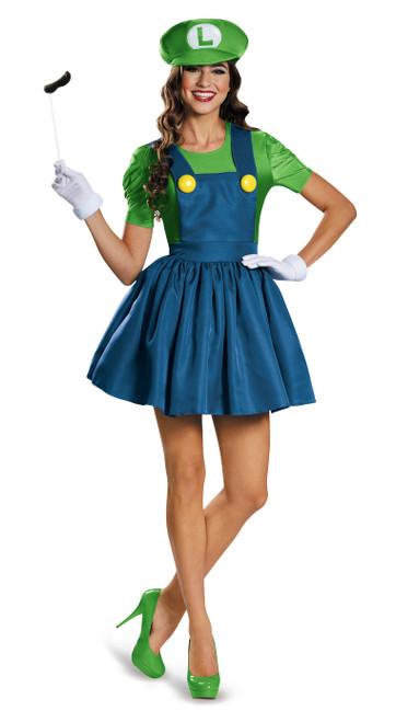 Super Mario Luigi Costume Femmes