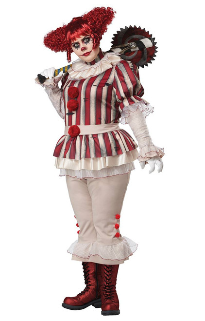 Costume de Clown Mechant Taille Grande Femmes
