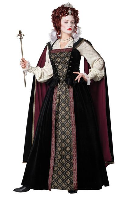 Costume Reine Elizabeth Femmes