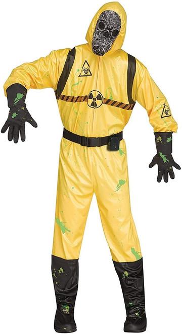 Costume de danger biologique pour homme avec effet sonore