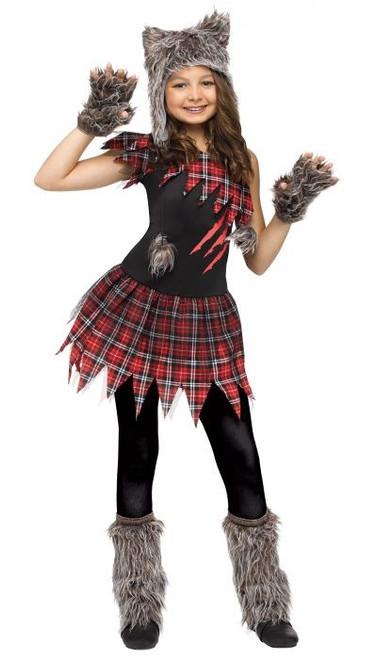 Costume de fille de loup sauvage