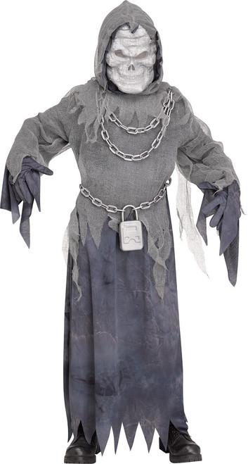 Costume de garcon fantome enchaine