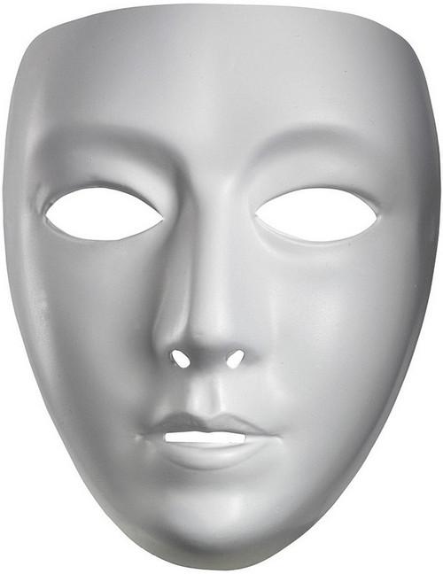 Masque de femme blanche