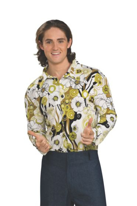Chemise verte Groovy pour homme