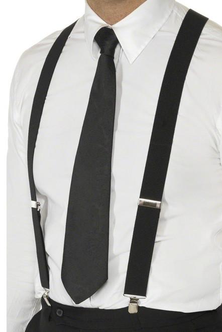 Les bretelles noires pour homme