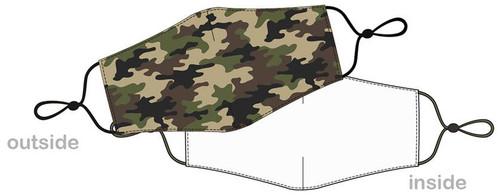 Masque camouflage reutilisable pour covid