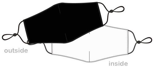 Masque reutilisable noir pour covid
