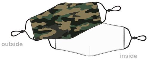 Masque de camouflage reutilisable pour covid