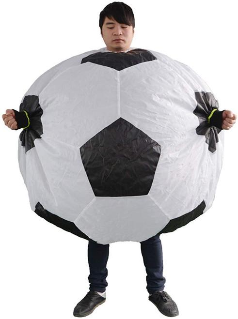 Costume de footballeur gonflable pour homme