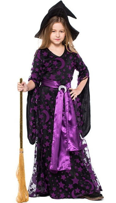 Deguisement de sorciere violette
