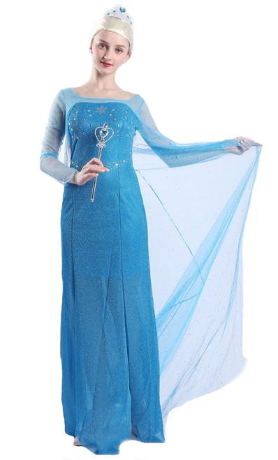 Deguisement Elsa la princesse des neiges femme