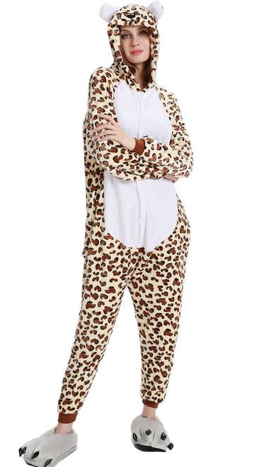 Deguisement combinaison leopard femme