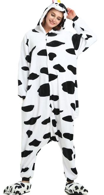 Costume de combinaison de vache pour femme