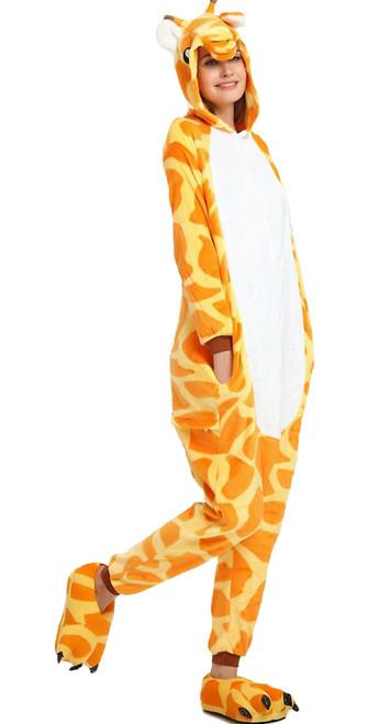 Deguisement combinaison girafe femme
