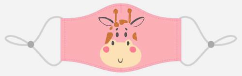 Masque lavable pour enfants - Girafe