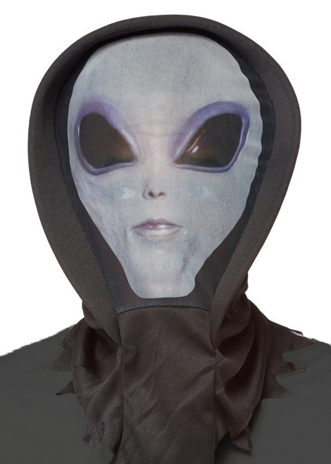 Cagoule extraterrestre grise