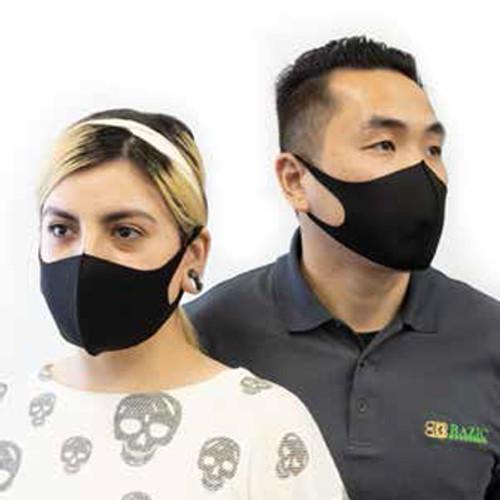 Masque Noir Lavable et Réutilisable pour Adulte