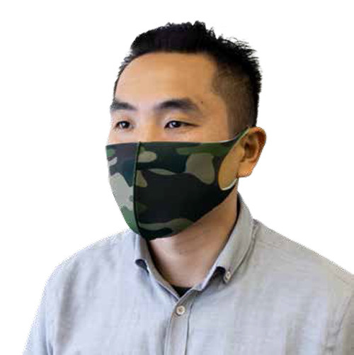 Masque Camo Lavable et Réutilisable pour Adulte