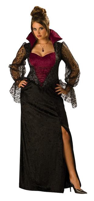 Costume Femme Vampire de Minuit Taille plus