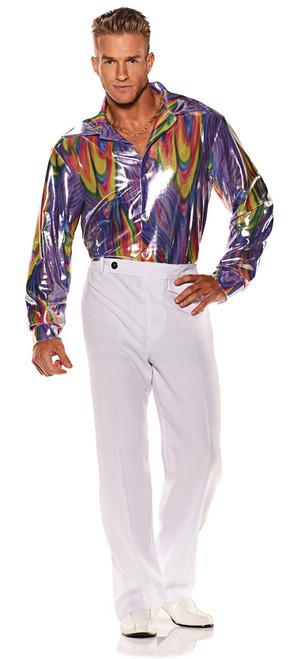 Chemise Disco Arc-en-ciel pour Homme