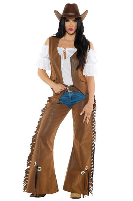 Costume de Cowgirl Chaps pour Femme