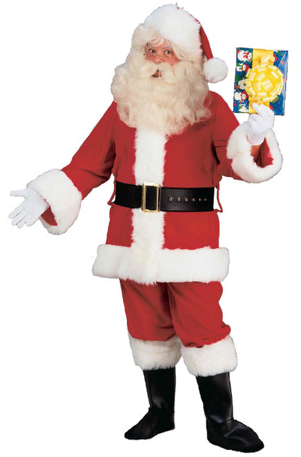 Costume Père Noël Deluxe en Peluche