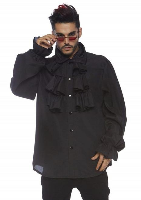 Chemise de Vampire à col froncé