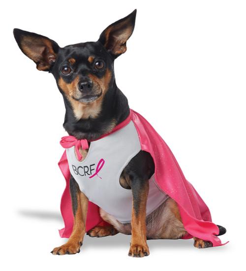 Costume du Hero pour la Recherche contre le Cancer du sein pour Chien