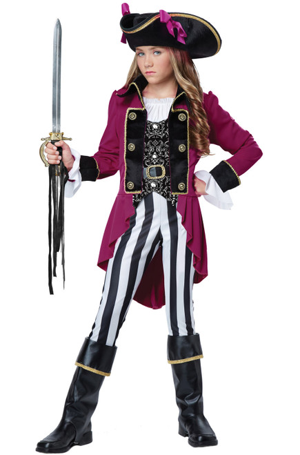 Costume de Pirate au Manteau Rouge