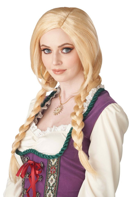 Perruque Blonde à Tresses