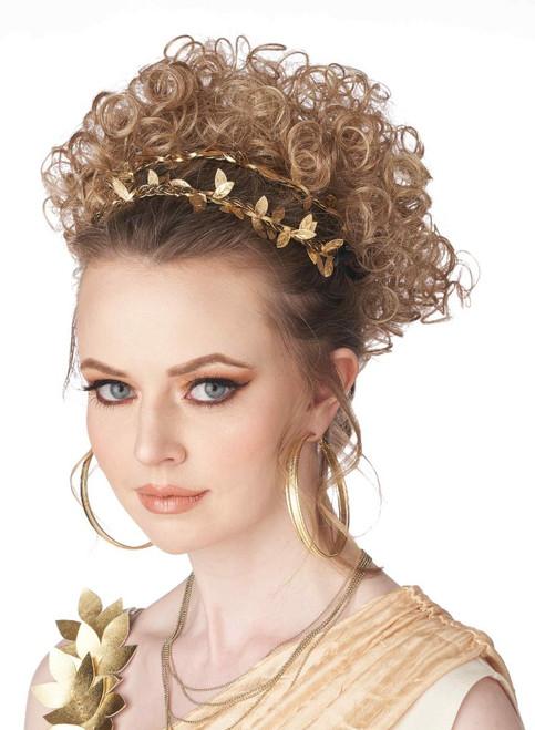 Perruque Blonde Déesse Greco-Romaine Clip Partiel