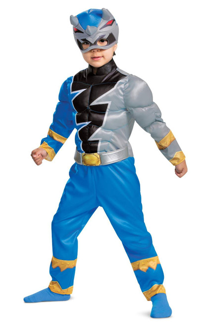 Costume Blue Ranger Dino Fury Muscle Tout-petits