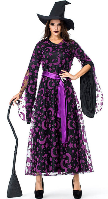 Costume Sorcière Violet Femmes