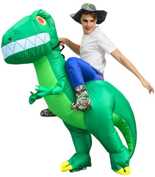 Costume T-Rex Vert Gonflable  pour Adulte