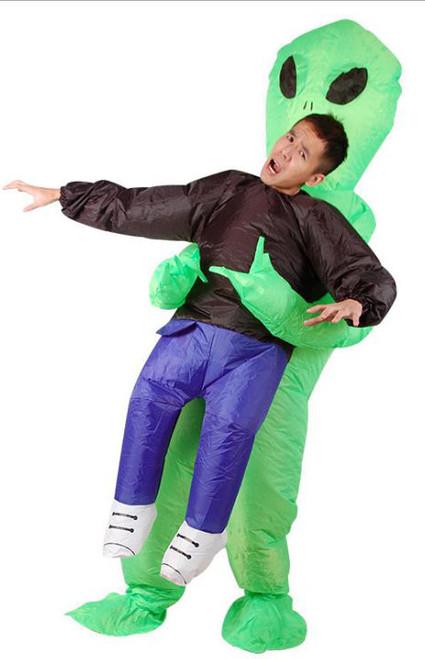 Costume d'Extraterrestre Vert Gonflable pour Adultes