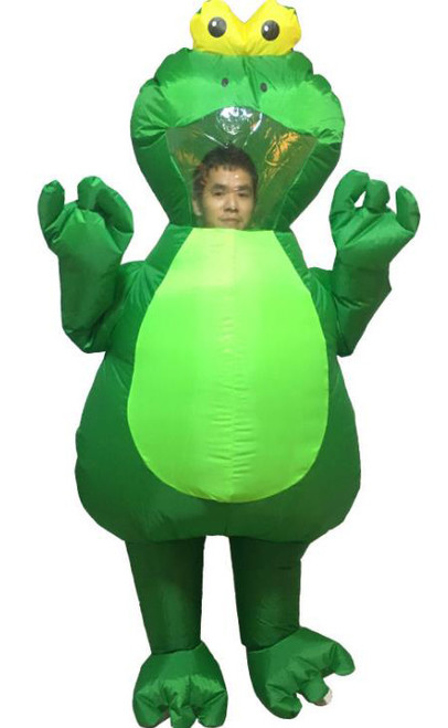 Costume Gonflable Grenouille Verte Adulte