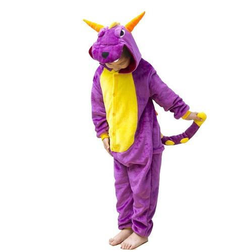 Costume Combinaison Dragon Violet pour Enfants
