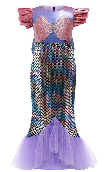 Costume de Sirène Violette pour Filles