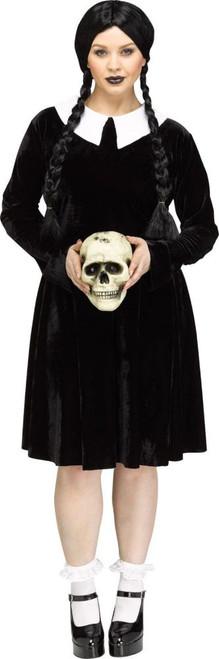 Costume Mercredi Addams Taille Plus